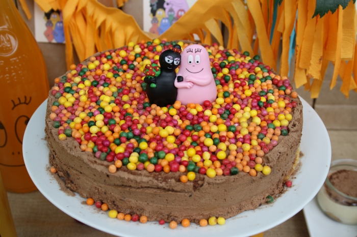 sweet table buffet dessert barbapapa fête enfant party kids gateau chocolat cake
