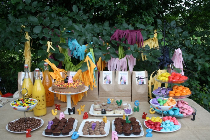 sweet table buffet dessert barbapapa fête enfant party kids